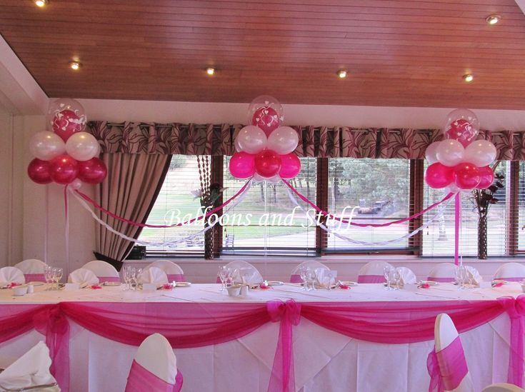 23 best images about wedding balloon displays on pinterest for Balloon decoration for quinceanera