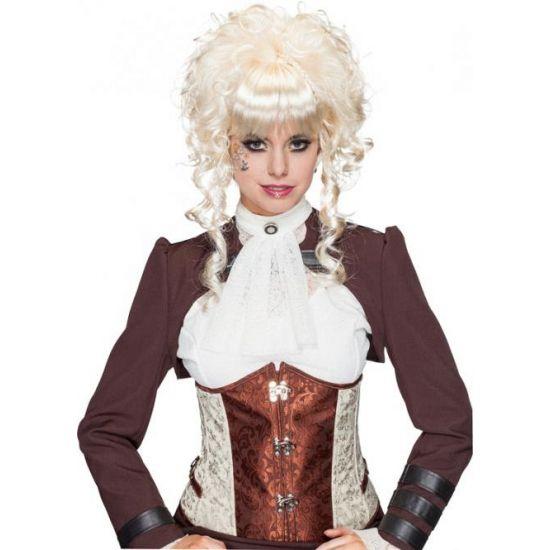 Blonde opgestoken pruik 1800 look  Blonde pruik opgestoken krullend haar. Blonde pruik met opgestoken haar mooie toevoeging van u verkleedoutfit.  EUR 28.95  Meer informatie