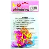 Rubba Bandz Shaped Rubber Bands 12Pack Scented Shapes