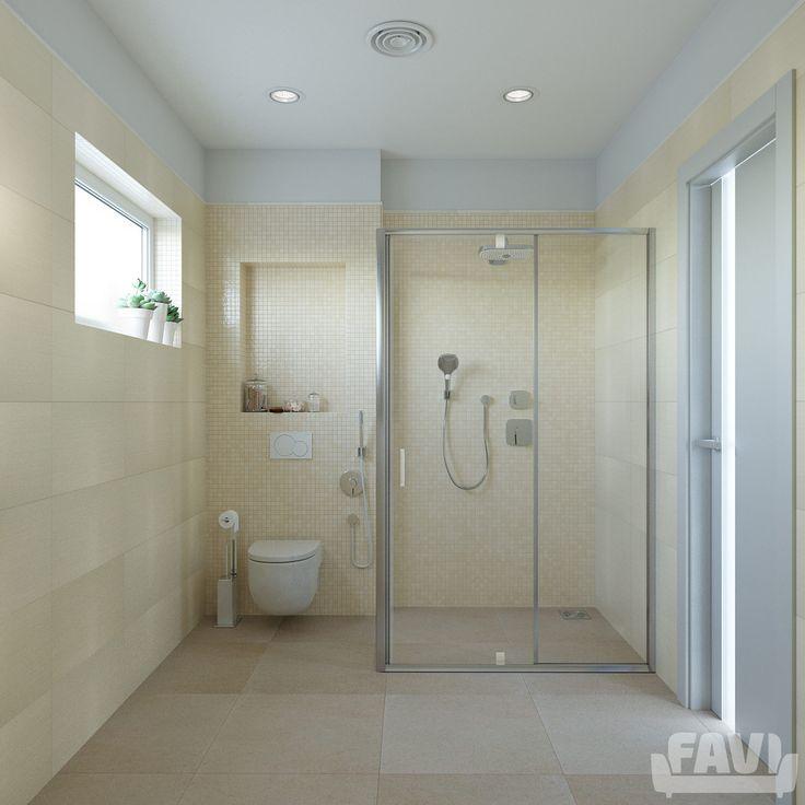 Moderní koupelny inspirace - Béžová koupelna | Favi.cz