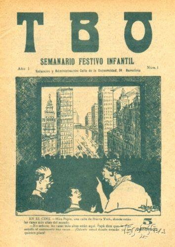 Ernesto Pérez Donaz- Equis (1875 - 1938) Portada del primer número. © 1917 LIT. ARTURO SUAREZ / EDITORIAL BUIGAS / EDICIONES TBO, sus diseñadores e ilustradores.