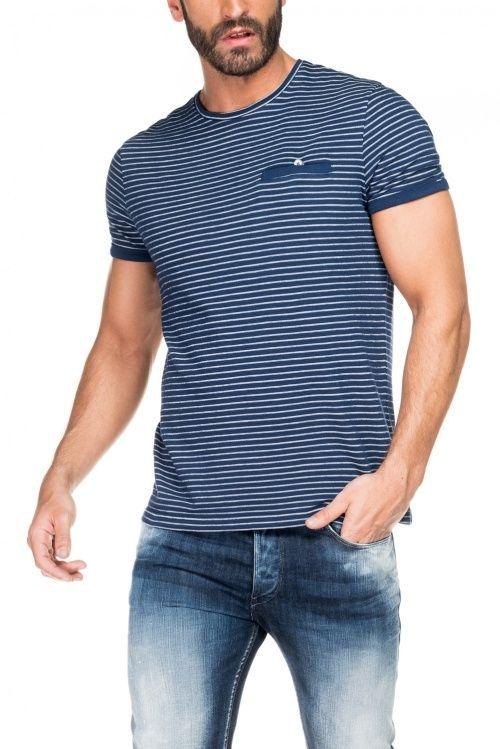 c1c596f770 Salsa Store - Camiseta hombre regular rayas