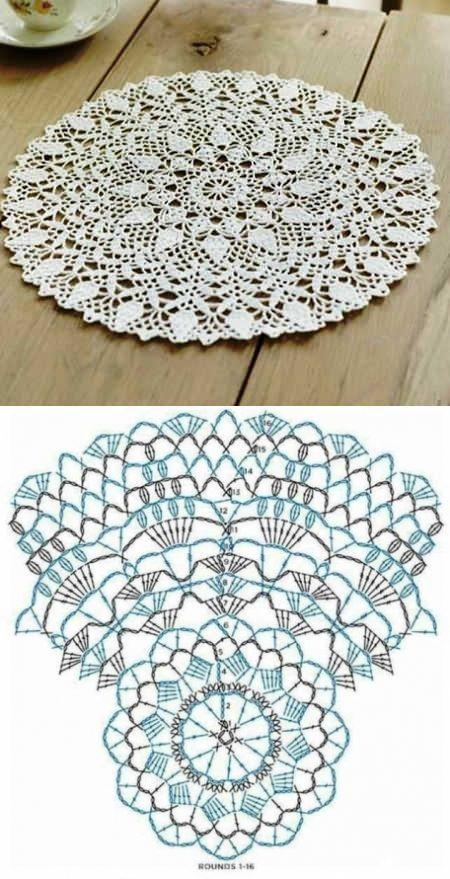 Салфетки. / Вязание крючком / Вязание крючком для начинающих ♥ Deniz ♥