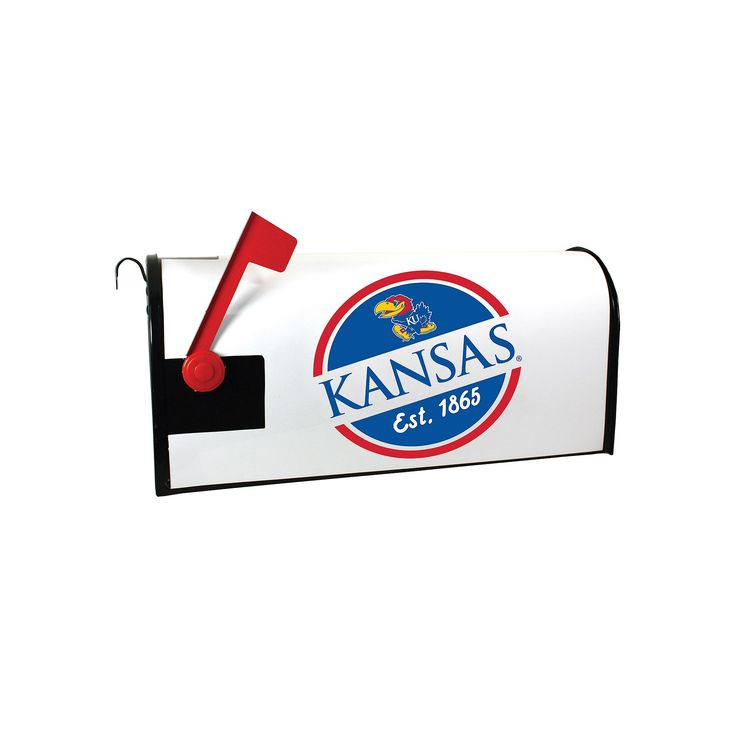 Kansas Jayhawks Magnetic Mailbox Cover, Multicolor