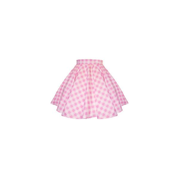 Strawberry Skies MTO Sweetie Gingham Circle Skirt ($50) ❤ liked on Polyvore featuring skirts, bottoms, pink, faldas, skater skirt, flared skirt, pink circle skirt, pink skater skirt and circle skirt