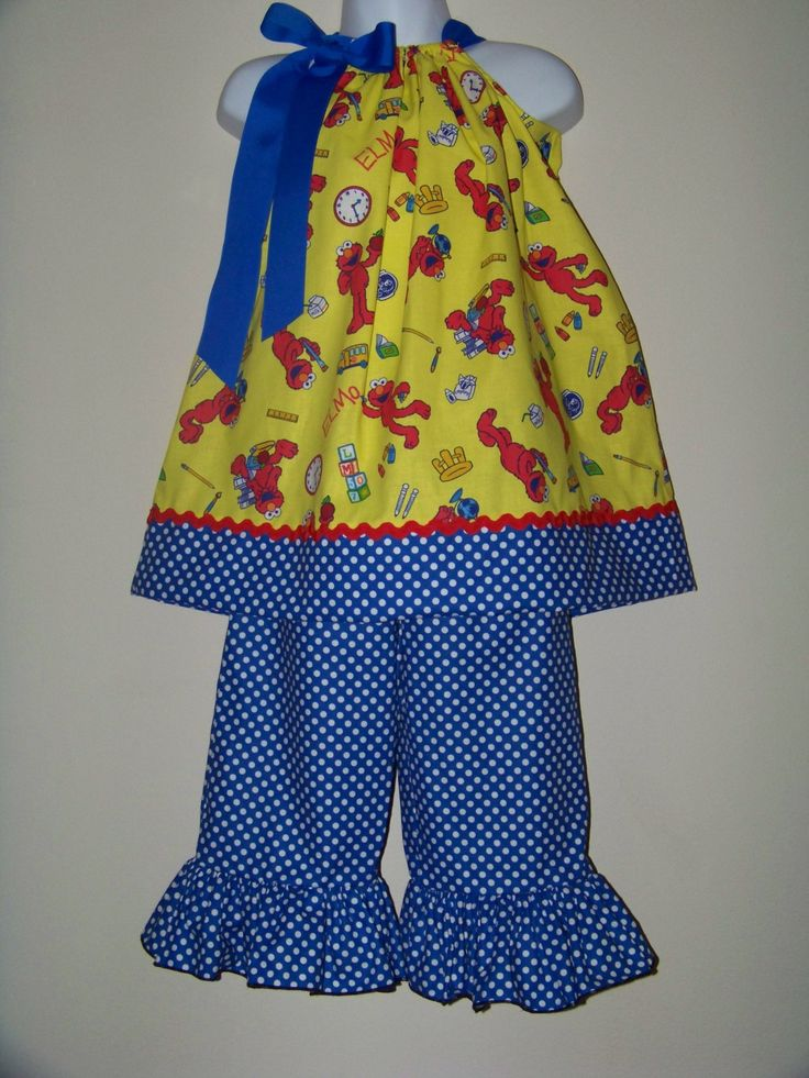 ELMO Custom Outfit / Chartacter / Sesame Street by KarriesBoutique, $54.99
