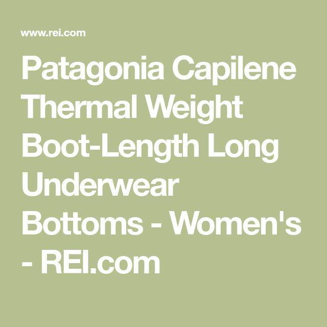 Patagonia Capilene Thermal Weight Boot-Length Long Underwear Bottoms - Women's - REI.com