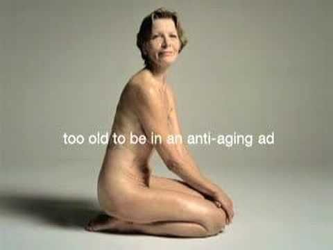 """This ad is part of Dove's """"Pro-age"""" campaign, and it was banned in the US for showing too much skin...sigh"""
