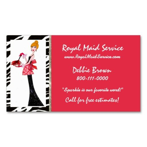 1000 images about House cleaning Business Cards on