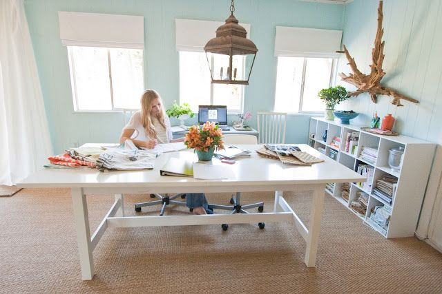 light & bright office via Pure Style Home