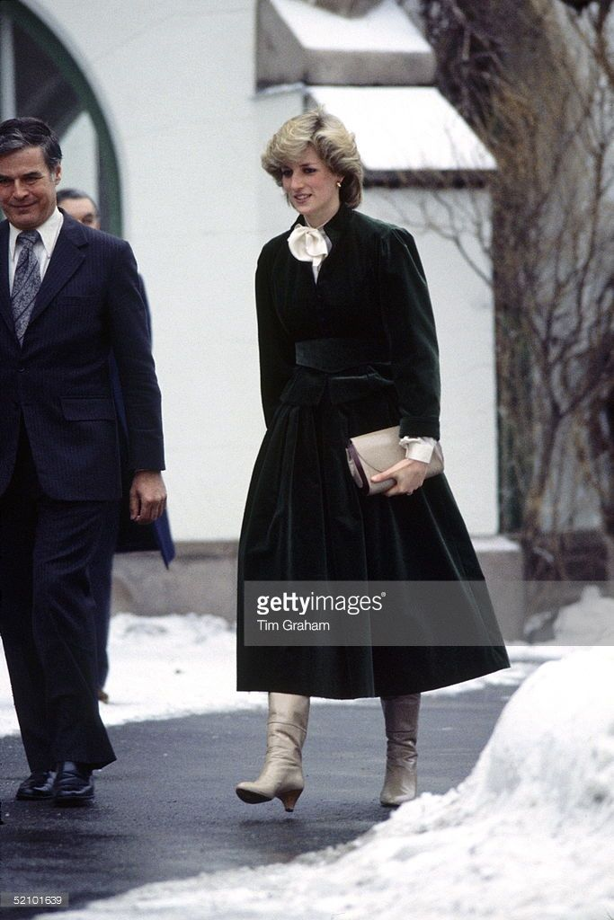 feb 1984--Princess Diana At The British Embassy Residence In Oslo, Norway.