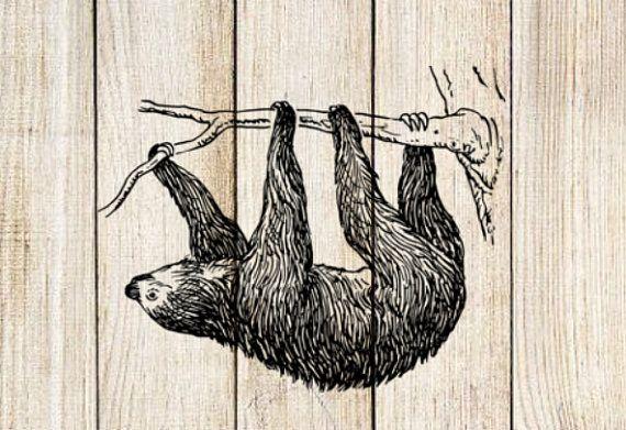 Sloth Temporary Tattoo