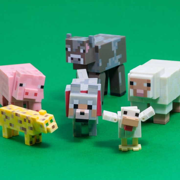 Officially licensed Minecraft animal mob! That chicken is just too cute.