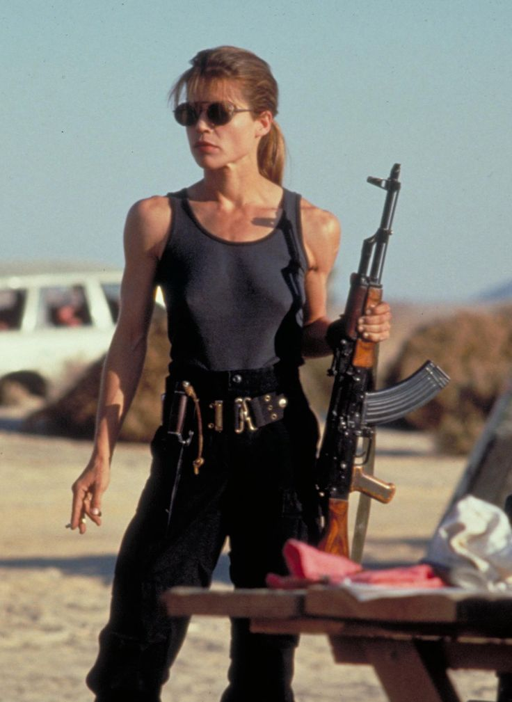 Linda Hamilton (Sarah Connor in Terminator). really trained for this role. later came out as bipolar. she inspires me.