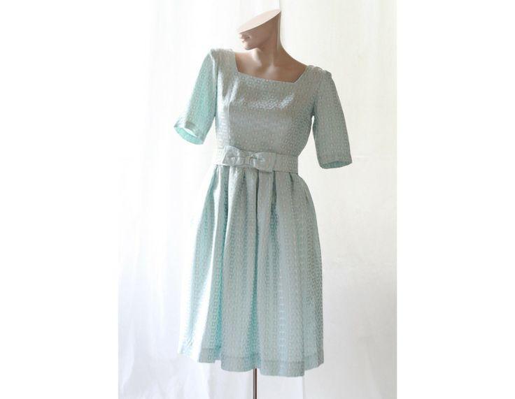 50er OriginalVintage Cocktail Kleid mint Gr.34/36  von Avantgarde-Plus auf DaWanda.com