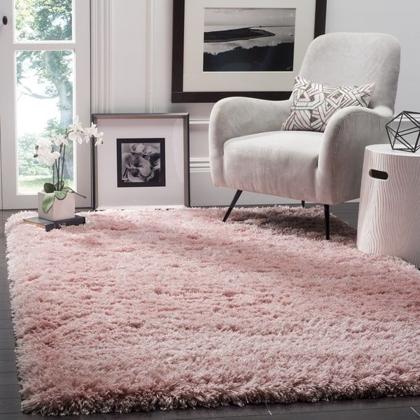 Safavieh Polar Light Pink Shag Rug (5' 1 x 7' 6)