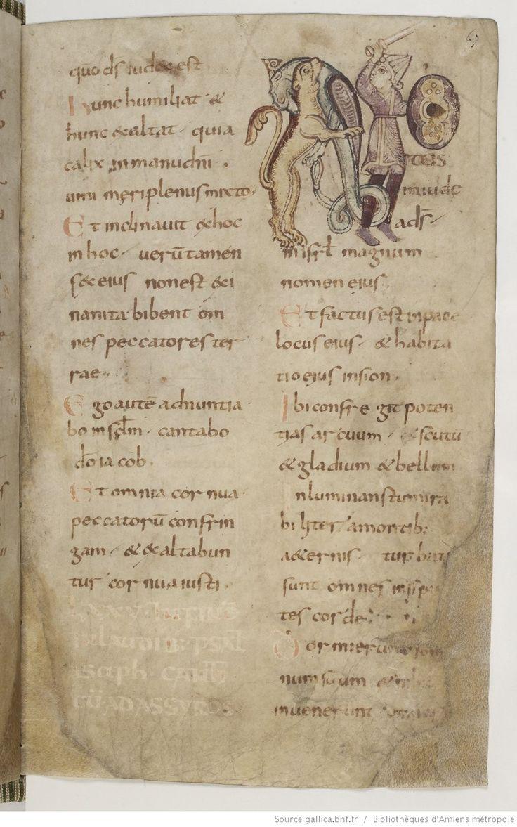 Amiens Bibliothèque municipale Ms. 18, Psautier, avec cantiques et litanies, fol. 67r