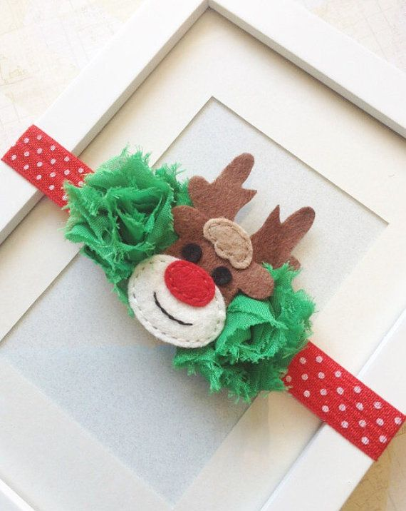 Reindeer headband Christmas headbands holiday by Abelialane