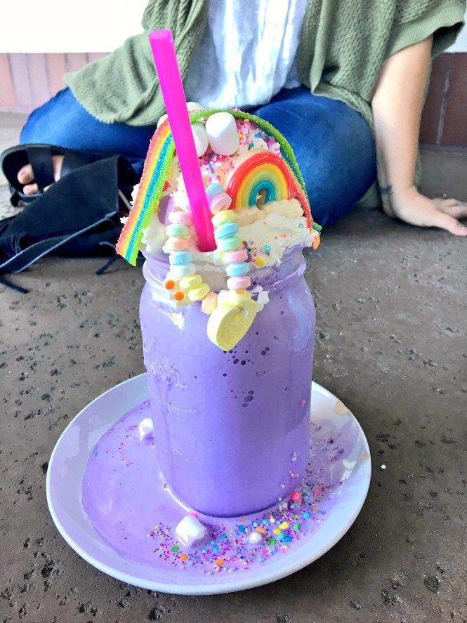 Unicorn Milkshake -- Anaheim, California unicorn cafe Creme & Sugar