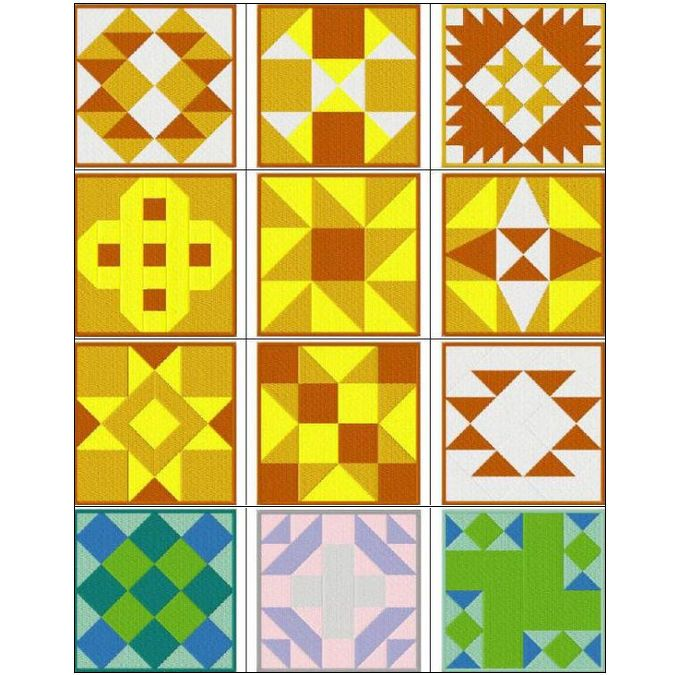 231 best Quilting Designs using Machine Embroidery images on ... : traditional quilt blocks - Adamdwight.com