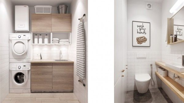 simplistic clean and modern laundry room