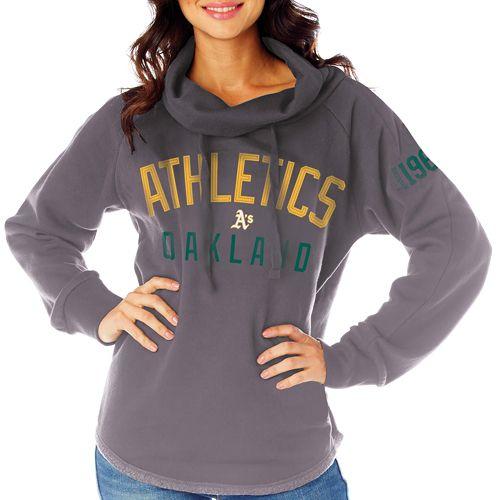 Oakland Athletics Women's Fleece Funnel Neck by Soft As A Grape - MLB.com Shop