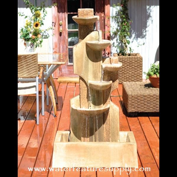46 best contemporary garden fountains images on pinterest | garden ... - Patio Fountain Ideas