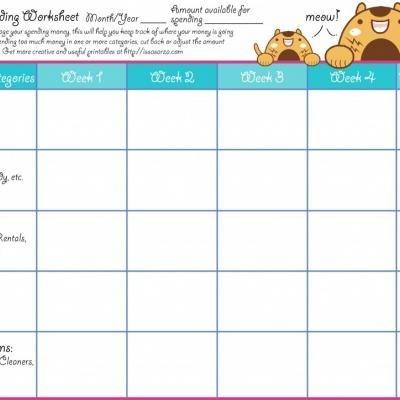 Monthly Spending WorksheetSpending Worksheets, Organic, Printables, Worksheets Today, Month Spending
