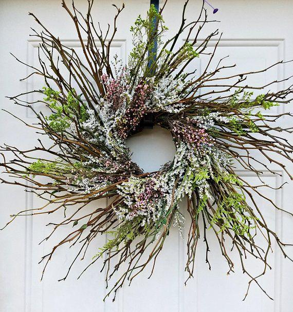 twig wreath 18  wreath rustic wreath country wreath