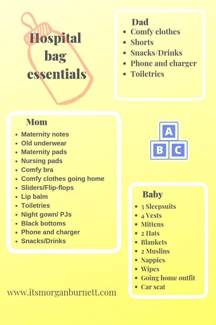 Die ultimative Checkliste für Krankenhaustaschen, die eine Mutter unbedingt braucht …   – Newborn Essentials