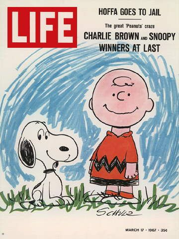 "GOOD GRIEF! March 17, 1967 - 'Peanuts' is featured on the cover of LIFE magazine, in the article ""Charlie Brown and Snoopy - Winners at Last""."