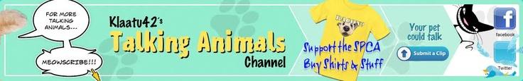 Great talking animals idea. Good cause too!