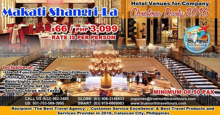 Corporate Hotel Venue, Makati Shangri-La, P3,099 ($66)/person, minimum 50 persons, see inclusions. Book now!