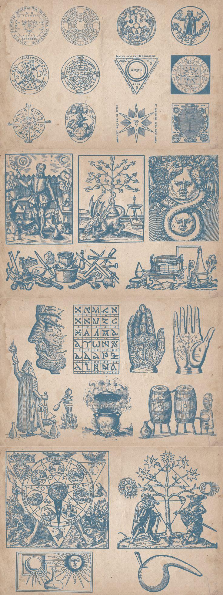 Vintage Alchemy Illustrations - https://www.designcuts.com/product/vintage-alchemy-illustrations/