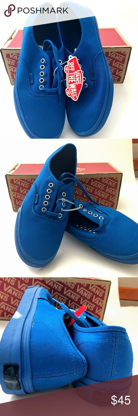 VANS NWT NIB AUTHENTIC PRO SZ 10 BLUE NEW MEN UP FOR SALE IS  VANS NEW IN BOX WITH TAG AUTHENTIC PRIMARY MONO (BLUE) IMPERIAL B  SIZE 10 MENS Vans Shoes Sneakers