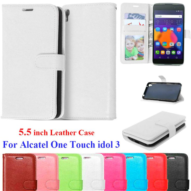 Flip Leather Case For Alcatel One Touch Idol 3 5.5 inch Stand Wallet Case Credit Card Holder Phone Cover For Alcatel Idol 3 5.5