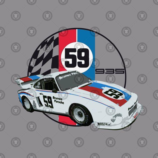Check Out This Awesome Brumos Porsche 935 Imsa Racecar Design On Teepublic Porsche Porsche 935 Race Cars