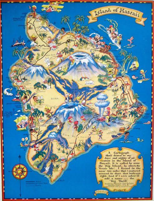 Jeni Sandberg - Barking Sands Vintage: Vintage Hawaiiana - Ruth Taylor White Maps of Hawaii