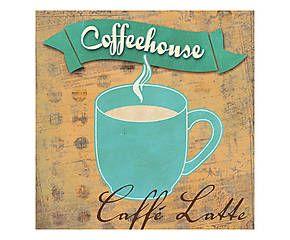 Stampa fine art su canvas con telaio in legno Caffe' Latte - 50x50x4 cm