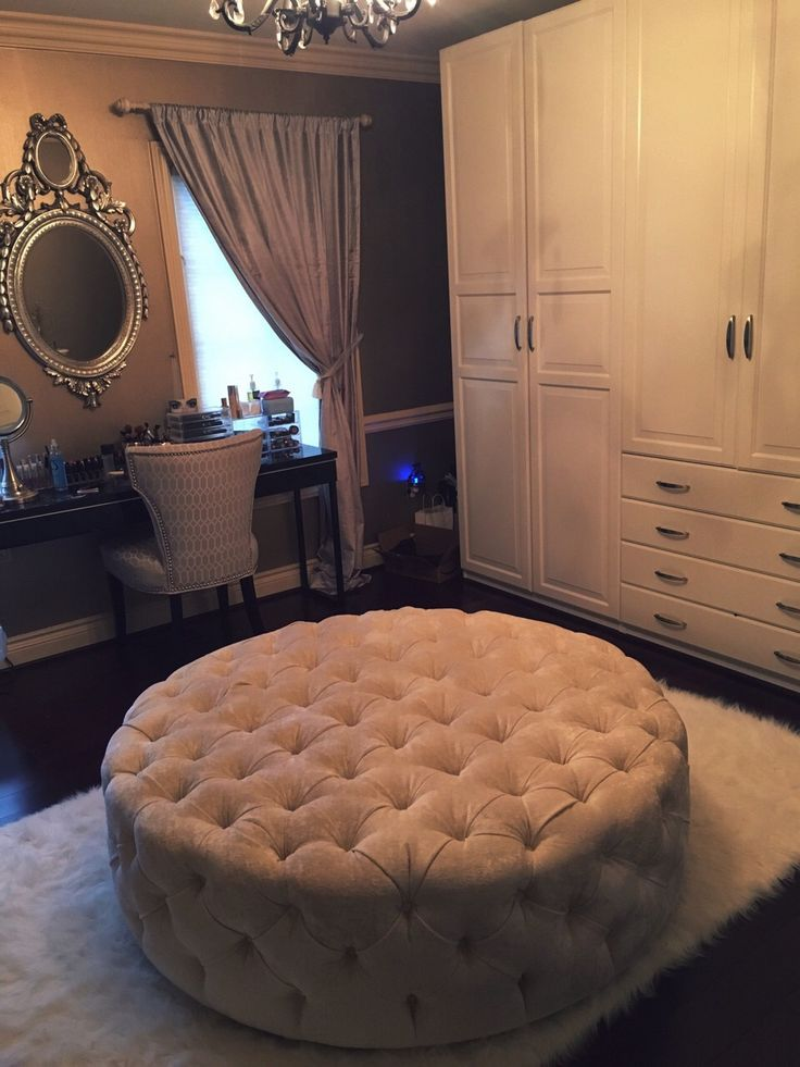 This fancy fad that people with large bathrooms or closets have. I like this because it's extra seating and decorative.