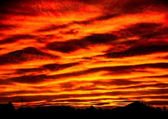 Perfect Kiwi Sunset. Digital download. New Zealand. Christchurch. Photo. Print. Image. A3