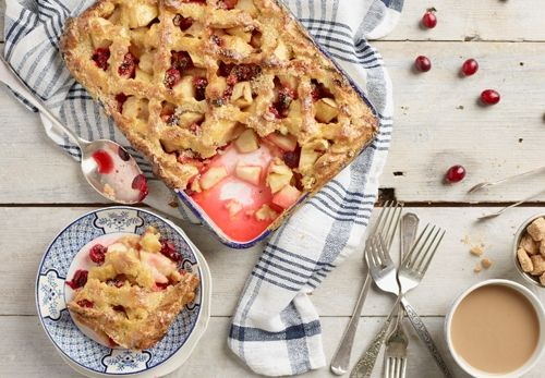 Apple and berry pie styled by Olivia Gartley