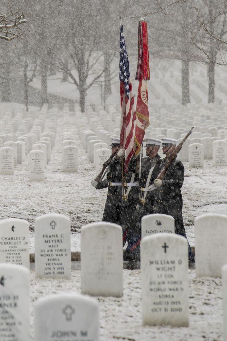 Marine Corp Color Guard at Arlington National Cemetery
