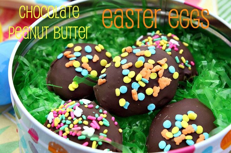 Peanut Butter Easter Eggs Peanuts, Butter Eggs, Chocolates Peanut ...