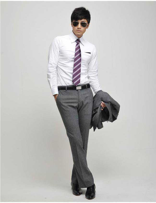 camisas de negocios casual slim fit estilo de camisas de vestir ropa para hombre ropa. Black Bedroom Furniture Sets. Home Design Ideas