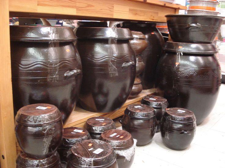 Korean kimchi pots