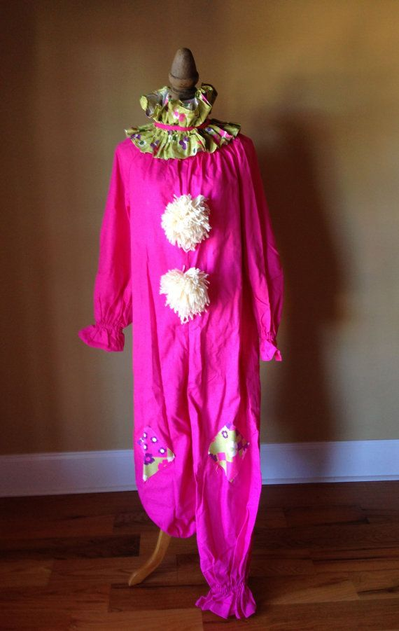 VIntage Clown Suit Hot Handmade Ladies Hot Pink by StylishPiggy, $68.00