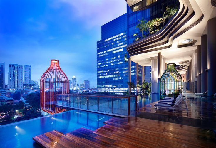 WOHA's parkroyal hotel features curved high rise gardens