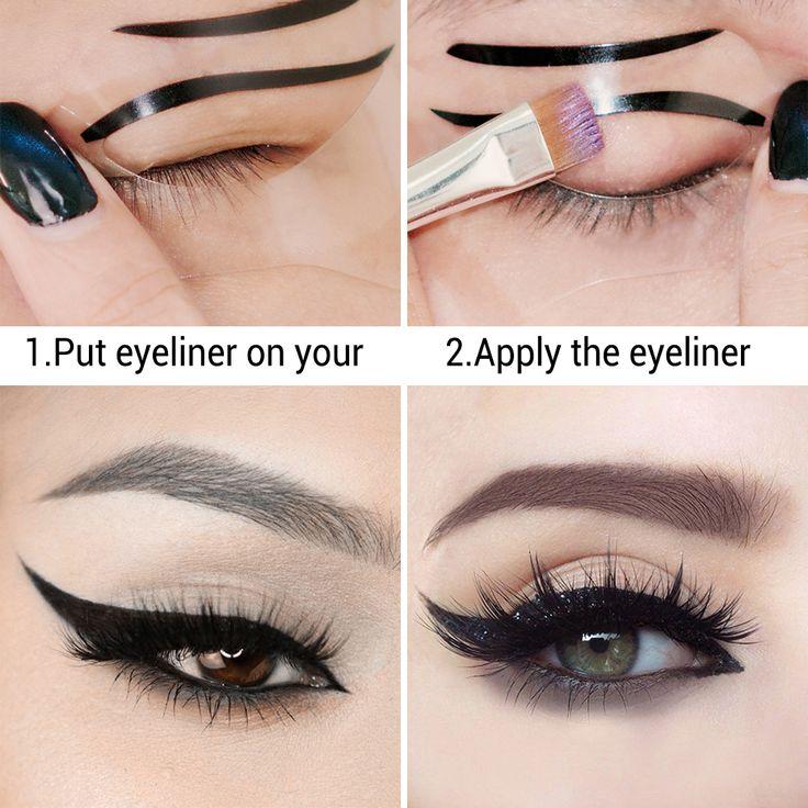 Hot Sell LANBENA 10 PCS Fashion Eyeliner Template Eyeliner Card Eyeliner Stencil Eye Makeup Set Makeup Brushes Tools Eye Liner