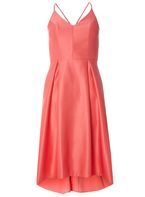 Womens **Luxe Coral Satin Camisole Dress- Coral